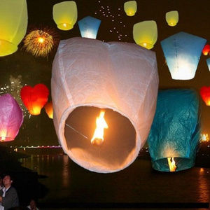 Lot of 15 Wish Paper Lanterns